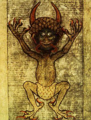 εικόνας του διαβόλου που βρίσκεται στο εσωτερικό του